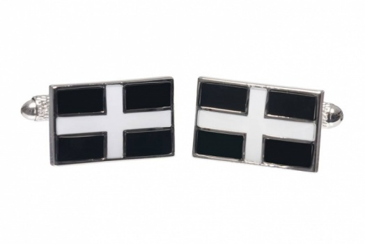 St Piran Cornish Flag Cufflinks